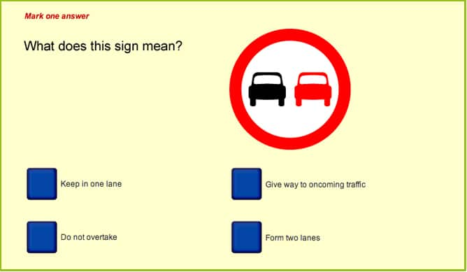 Theory Test question